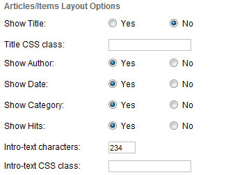 joomla 3 module articles option