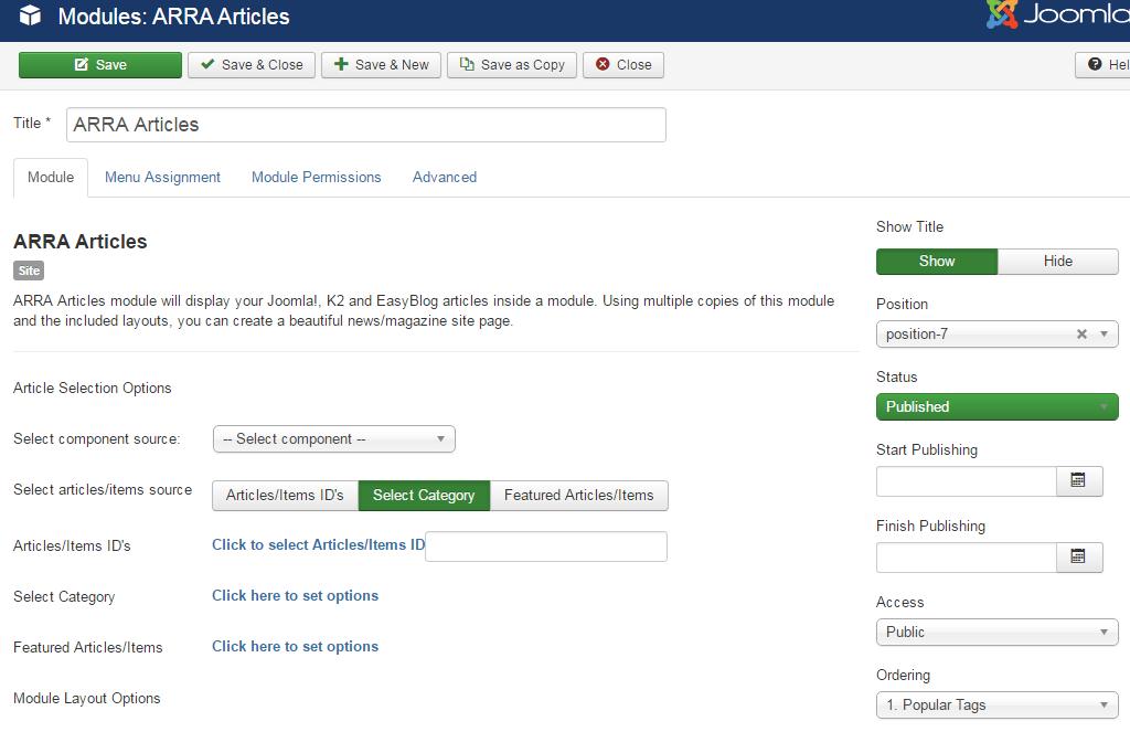 Joomla news module